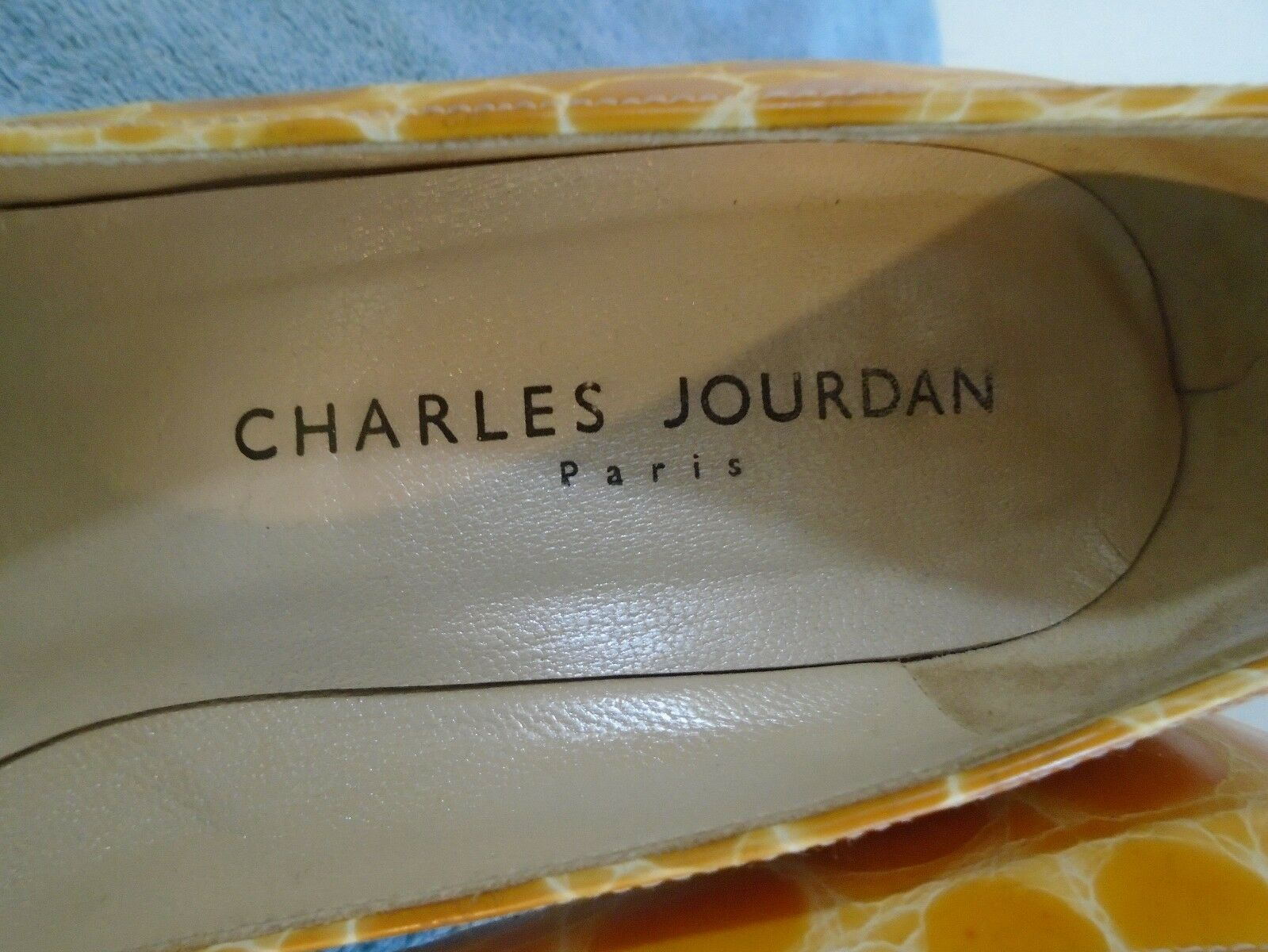 Vintage Vintage Vintage CHARLES JOURDAN Brownish, gold, Animal Print Leather Pumps 7 EUC France 4f1557