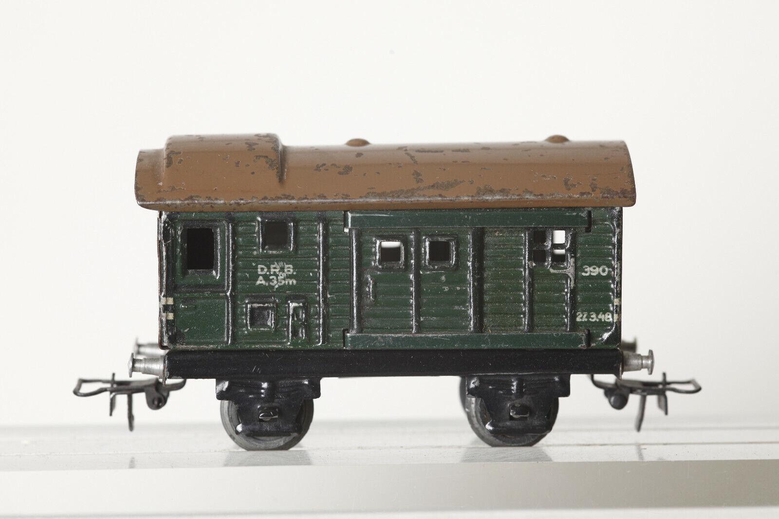 Märklin H0 Tin Cattle Wagon 390 Green (117614)