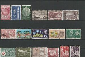 Prezioso lot Australia a partire dal 1950 timbrato 17 valori