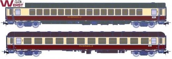 Piko 73028 2 -teiliges Rheinguld Wagens 2 DB Epoche VI - Wilde 13 H0 NEU & OVP