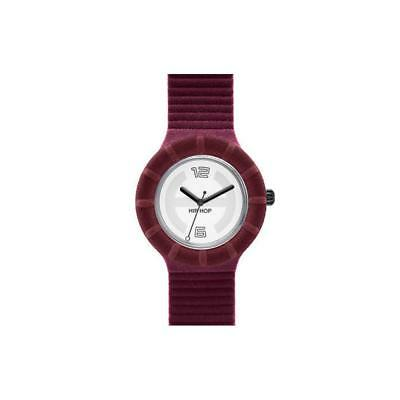Orologio HIP HOP VELVET TOUCH HWU0147W Large 40mm Silicone Bordeaux Bianco