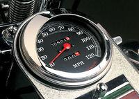 Chrome Mirage Speedometer Speedo Visor Cover Harley Touring Softail Dyna 95-13