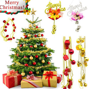Details about Christmas Bells Jingle Pendant Bead Chain Garland Party Xmas  Tree Ornament Decor