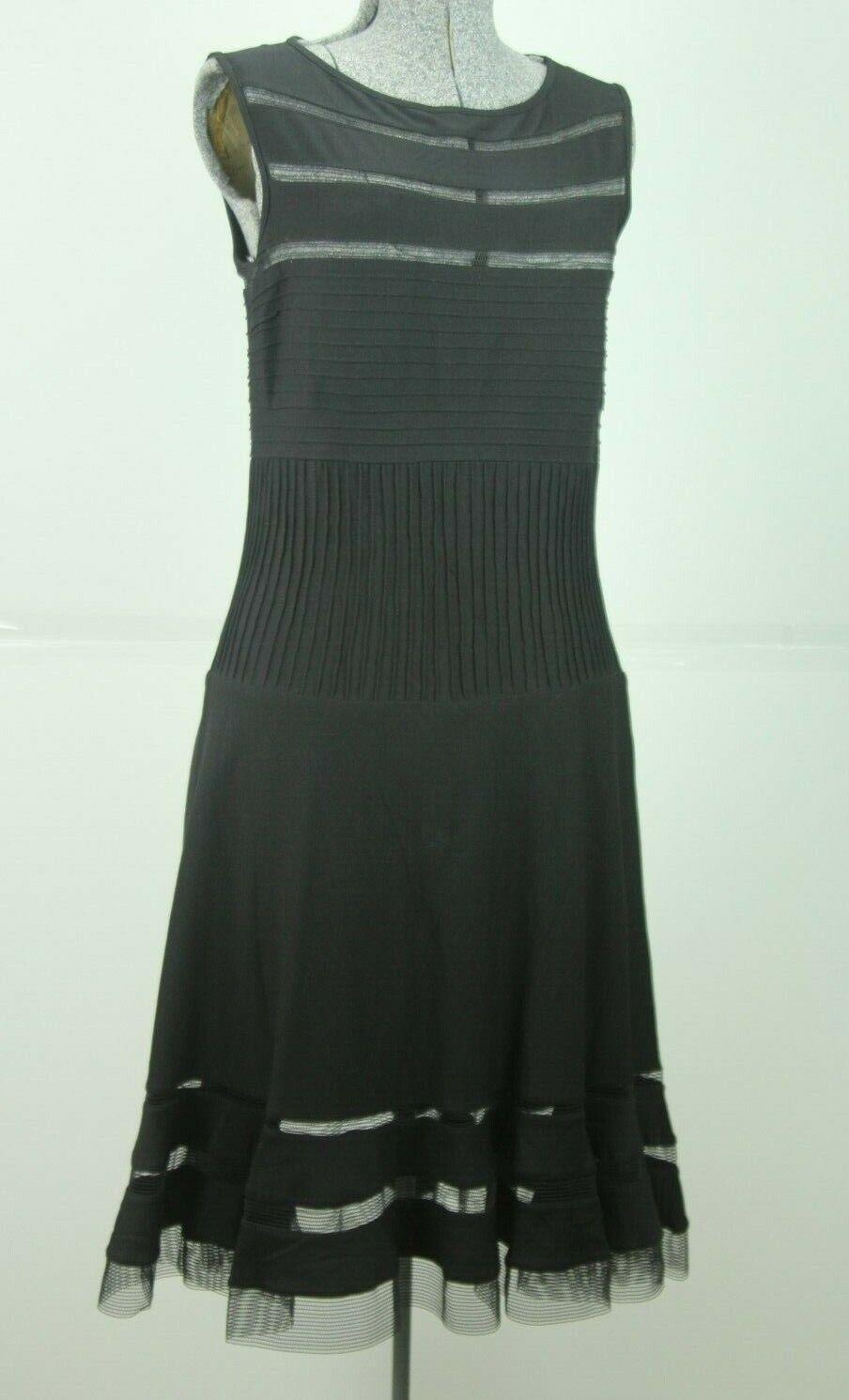 Tadashi Shoji schwarz Cocktail Dress Medium Stretch Jersey Cutouts