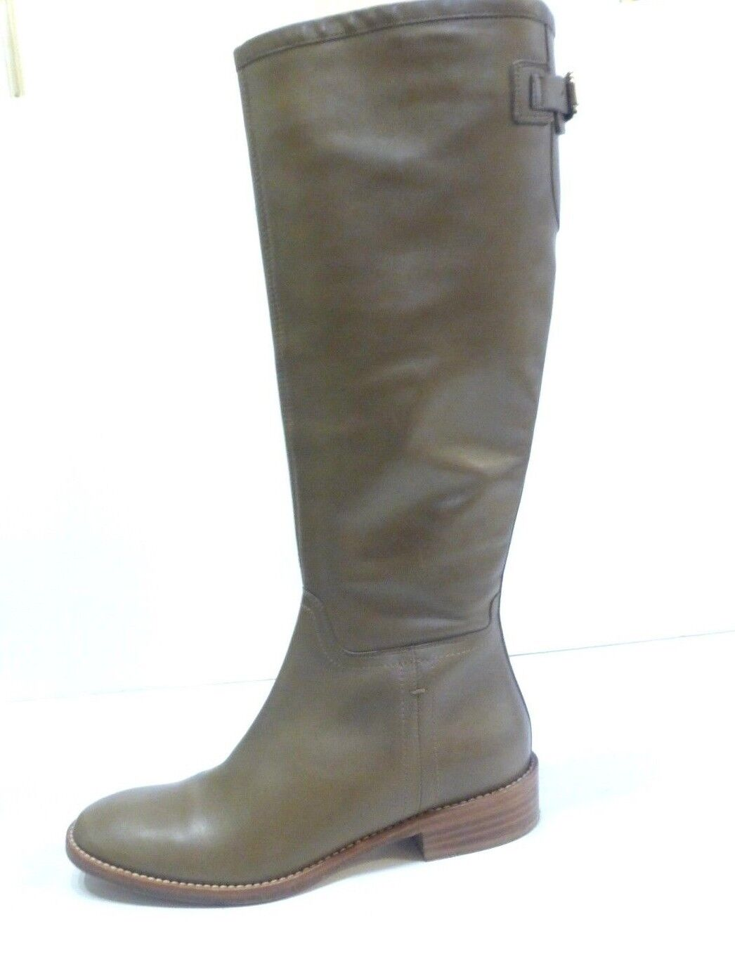 Max Mara Taupe Brown Leather Tall Boots sz 7 Euro 37
