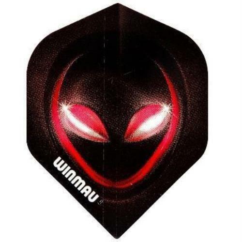 Winmau Mega Standard Red Alien Dart Flights