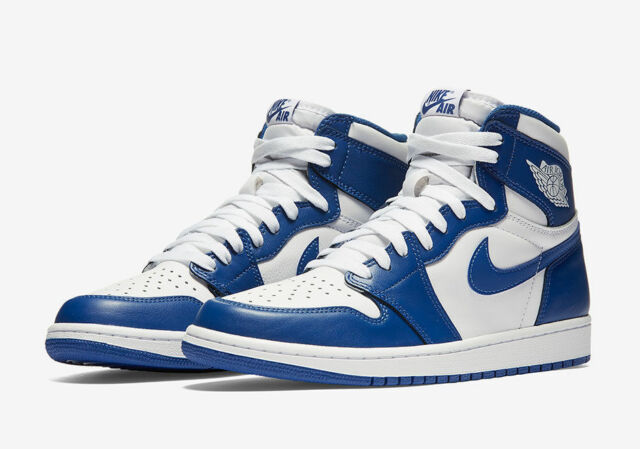 ce36ffb29ce457 Nike Air Jordan 1 Retro High OG Storm Blue White (555088-127) Mens ...
