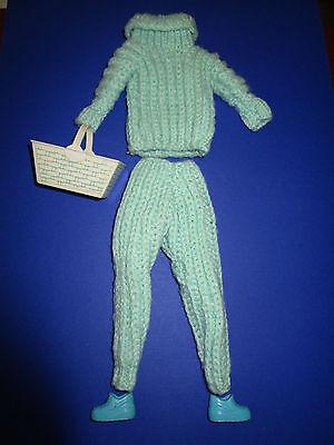 305) Età Türkiser A Maglia-vestito + Scarpe Cesto Barbie Ua.29cm Moda Bambole Interamente A Mano-chuhe Korb Barbie Ua.29cm Modepuppen Handarbeit It-it Mostra Il Titolo Originale