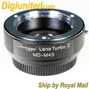 Zhongyi-Lens-Turbo-II-Reducer-Booster-Minolta-MD-to-Micro-4-3-Adapter-MFT-OM-D