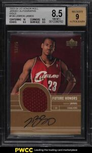 2003-Upper-Deck-Honor-Roll-Gold-LeBron-James-ROOKIE-RC-PATCH-AUTO-25-BGS-8-5