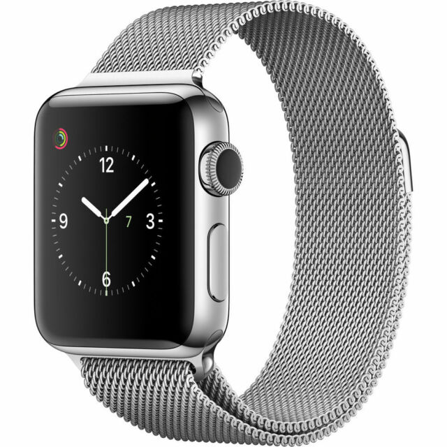 Apple Watch Series 2 38mm Stainless Steel Case Silver Milanese Loop Mnp62ll A For Sale Online Ebay