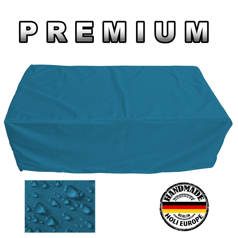 Premium jardín mesa cubierta projoectora lona cobertora B 210cm x t 130cm x h 100cm turquesa