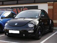 VW BEETLE BLACK UNPAINTED HEADLIGHT LAMP EYE LID BROWS EYELIDS EYEBROWS COVER