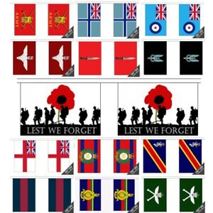 British Army Royal Corps of Signals Polyester Flag Bunting 9m long with 30 Flags