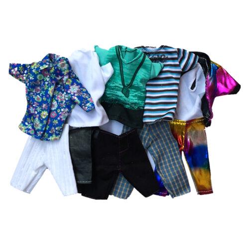1 Set Doll Clothes Suit for Barbie Ken Fashion Handmade Coat Pants for Dolls