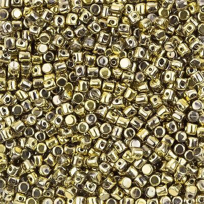 L101//1 Czech Glass Minos® par Puca® 2.5x3mm Barrel Shaped Beads Crystal 9g