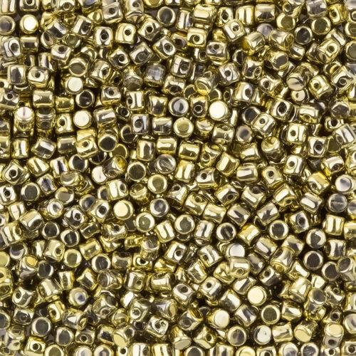 Minos® par Puca® Czech Glass 3mm Barrel Beads Full Dorado 9g L104//2