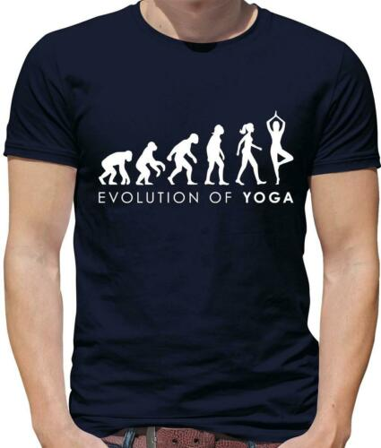 Evolución de yoga para hombres Camiseta-Meditación-Pilates-Stretch Gimnasio-Relax