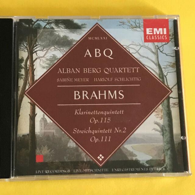Klarinettenquintett op. 115 und Streichquartett No. 2 op. 111, Brahms, Audio CD