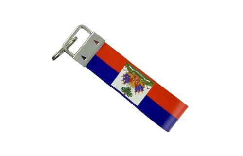 Keychain stripe key lanyard flag keyring ring car jdm band remote haiti