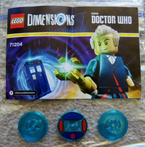 Discs Only - No LEGO Dr Who 71204 Dimensions Level Pack LEGO