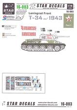 Star Decals 1/16 T-34 m/1943 TANKS OF THE LENINGRAD FRONT