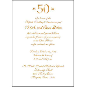 25 Personalized 50th Wedding Anniversary Party Invitations AP007