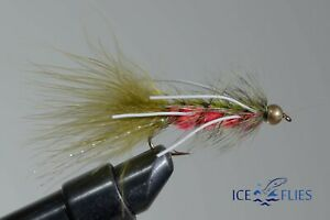 ICE-FLIES-Streamer-fly-Panacora-rubber-legs-Bead-head-Size-2-10-3-pack