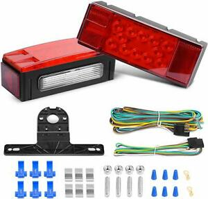 2 Submersible Light Trailer Kit Mount Stop Turn Tail Marker Truck Boat Water USA