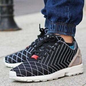 Image is loading S75630-Men-Adidas-ZX-FLUX-SASHIKO-Torsion-Running- 1b99699a0