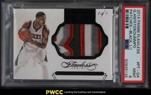 2014 Panini Flawless Black Giannis Antetokounmpo GAME-USED PATCH 1/1 PSA 9 MINT