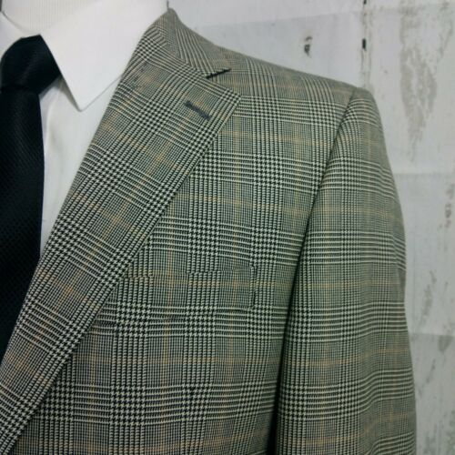 Harold Powell 40R Bamboo Blend Multi Color Plaid S