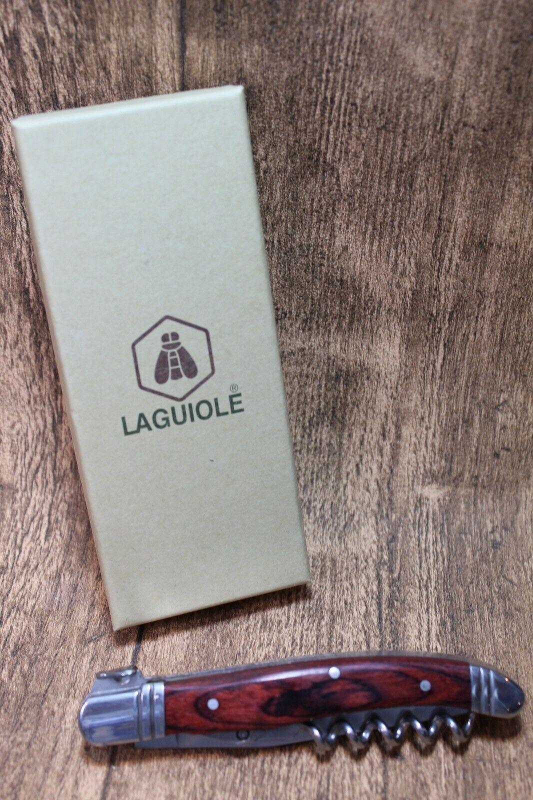 Edles LAGUIOLE Taschenmesser + Korkenzieher - HOLZ - Neu & ovp - 268436  | Klein und fein