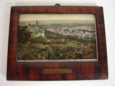 Andenkenbild, Burg Windeck Mit Blick Auf Weinheim, Gewölbtes Glas, Jugendstil Mit Dem Besten Service