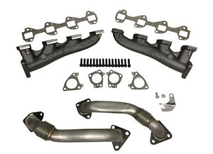 Details about PPE RACE Exhaust Manifolds with Up-pipes for 2001-2017 GM  Diesel Duramax 6 6L