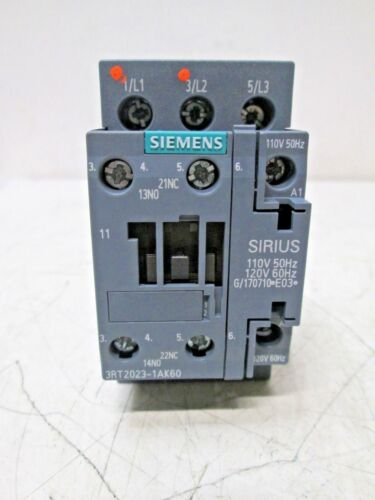 SIEMENS SIRIUS 3RT2023-1AK60 CONTACTOR 110//120V 50//60HZ XLNT NEW NO BOX