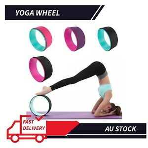 "13""Yoga Wheel Roller Relieve Stress Fitness Balance Exercise Equipment Mat Ball"
