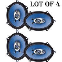(lot Of 4) Pyle Pl573bl 5'' X 7'' / 6'' X 8'' 300 Watt Three-way Speakers on sale