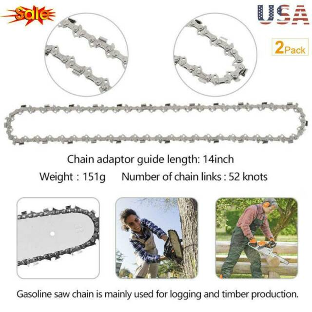 "Replacement 14/"" Genuine Stihl Chainsaw Chain 52 Drive Links 3//8 1.3 Pack of 2."