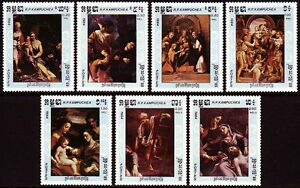 Stamps Cambodge Kampuchea N°512/518** Tableau Corrège 1984 Cambodia Painting 540-546 Nh Diversified Latest Designs