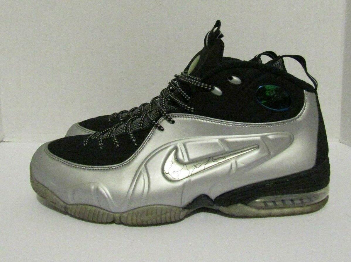 newest ec370 335fc 2009 Nike 1 2 Cent Black Metallic Metallic Metallic Silver Sz 13 (0511)  344646
