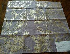 MANUEL CANOVAS Fabric Remnant - ATLANTIS - Metallic Ink Linen Blend - ITALY $238