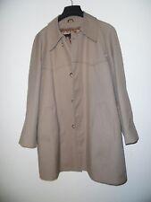 Vintage Outwear Sears Best Size 42 Short Beige Tan Zip Lining   Coat  Men's