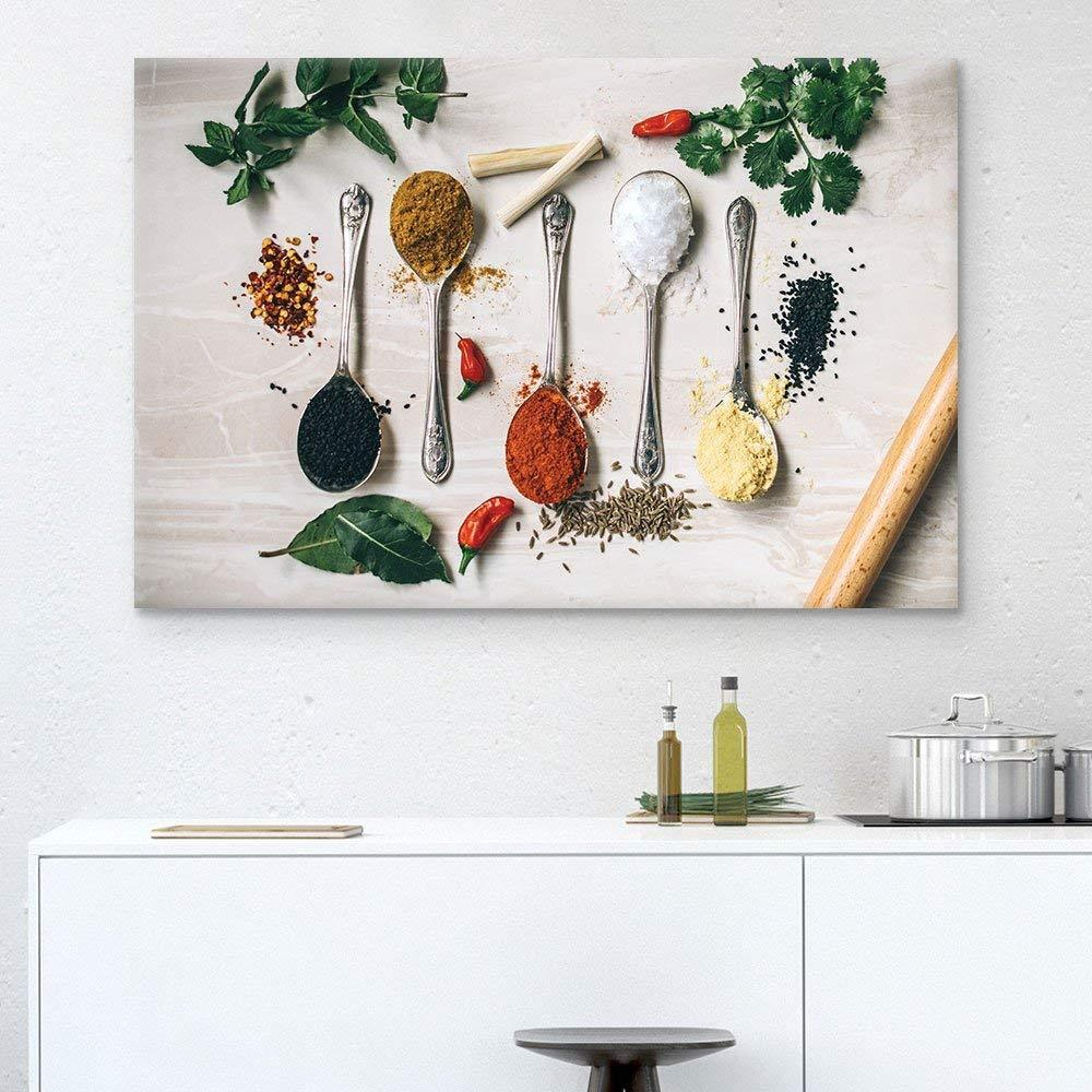 Wall26 - Spoons of Seasonings Gallery - Canvas Art Wall Decor - 32x48 inches
