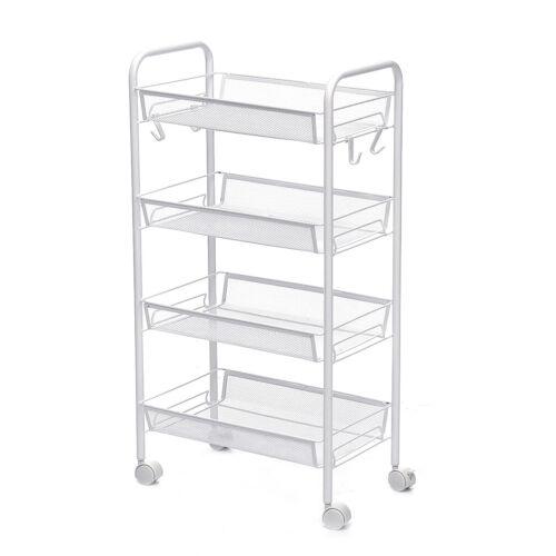 5-Tier Slide Out Gap Kitchen Slim Storage Tower Rack Shelves Cart Wheels-US