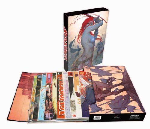 "1x BCW Comic Book Stor-Folio 1.5/"" Stores 15-20 comics ART RED SONJA"