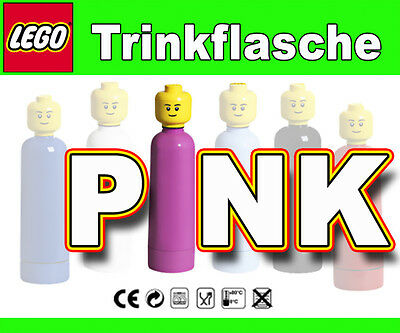 Pink Drinking Bottle Schule School Safe Lego Trinkflasche 0,4 Liter Flasche