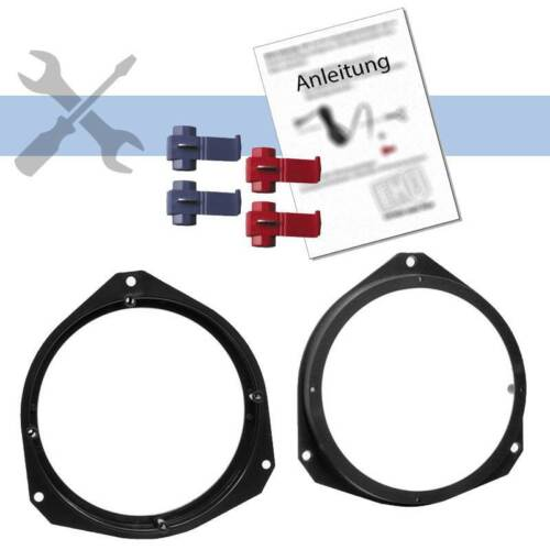 Kit de integracion 16,5cm altavoces adaptador anillos kit para fiat grande punto 2005-2009