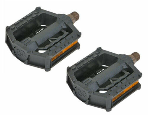 """New Bicycle PVC Pedals 607 1//2/"""" Black"""