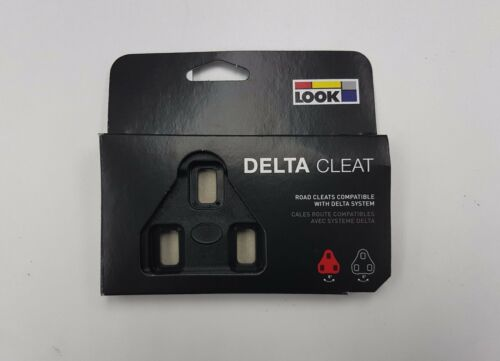 Look Track Delta Replacement Cleat Cleats Black Red